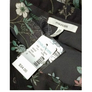 Maurices Tops - Maurices, Gray Floral Blouse Plus sz 20/22